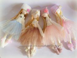 куклы ручной работы, кукла из ткани, тильда, балерина, ангелочки, кукла подарок