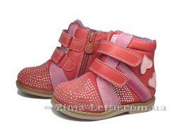 Ортопедические ботиночки демисезонные для девочек р. 20-21. В наличии.
