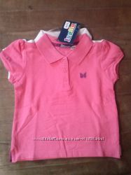 Летние футболки-тенниски для девочек Lupilu Германия на 1, 5-2 и 3-4 года