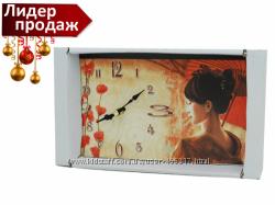 Часы картина в японском стиле