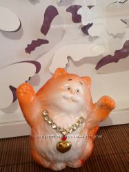 Веселые коты фарфор