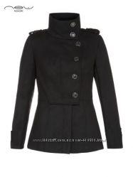 Шерстяное пальто в стиле милитари от NEW LOOK Англия размер UK12