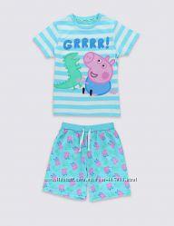 Літня піжамка з Джоржем, батом Свинки Пеппи - 5-6років - MARKS&SPENCER