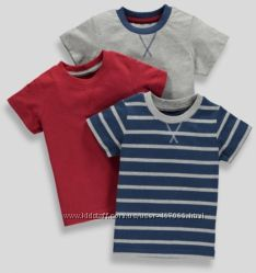 Комплект літніх футболок - Matalan- 1, 5-3роки, ціна за комплект