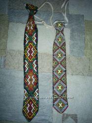 Підліткова вишита краватка галстук
