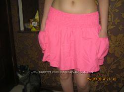 Неоново-розовая юбка Top Shop