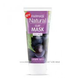 Натуральная глиняная маска с маслом виноградных косточек