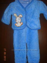 Детский махровый теплый костюмчик для малыша, р. 3-6 мес