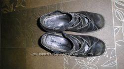 Неубиваемые кожаные, демисезонные туфли для дюймовочки 35-36 размера