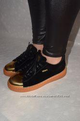Криперы модные  новые с золотистым носком