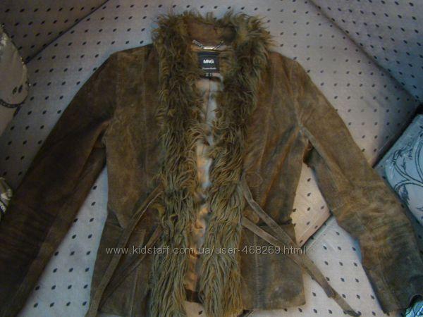 Куртка, курточка замшевая Mango размер M, пиджак