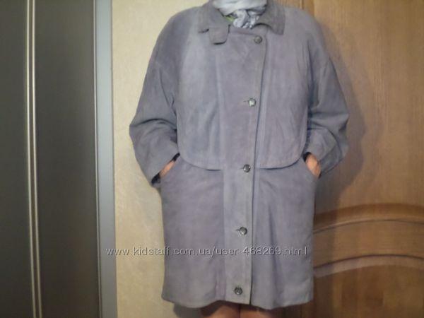 Куртка пальто кардиган женский замшевый Р. 52-54