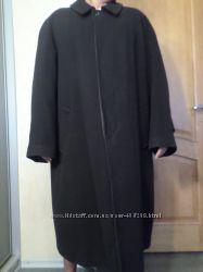 Пальто мужское черное шерсть  кашемир Р. 54-56