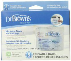 Пакеты для микроволновой паровой стерилизации Dr. Browns Natural Flow 5 ш