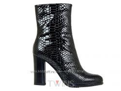 Кожаные ботинки полусапожки на каблуке ANNA LUCCI FABIO MONELLI BERLONI