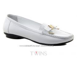 Кожаные белые балетки мокасины на низком купить Крым бесплатная доставка