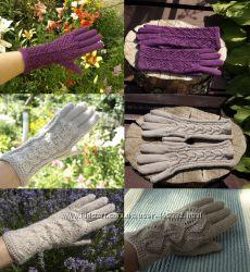 Вязаные перчатки, варежки, митенки на заказ