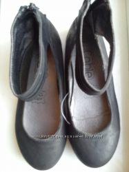 Туфли в школу Черные 34 р  21, 5 см кожаная стелька Новые