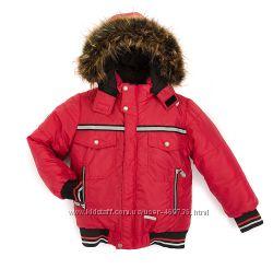 Модная зимняя куртка на мальчика сезона  красная