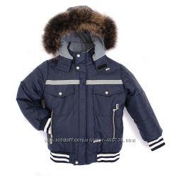 Модная зимняя куртка на мальчика сезона 2017 синяя