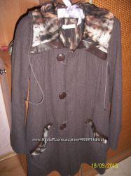 Шикарное пальто Nina Ricci Оригинал шерсть шелк кожа