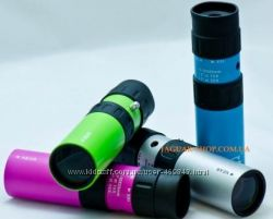 Монокуляр  10-30х25 JAXY голубой, зеленый, серый, розов