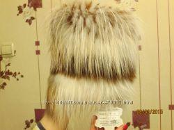 Шикарная лисья шапка. Цена снижена