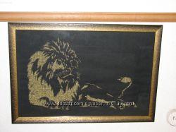 Вышивка крестиком Золотой Лев