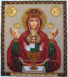 Икона Божией Матери Неупиваемая Чаша, бисер