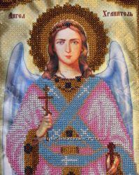Икона Ангел Хранитель. Вышивка бисером