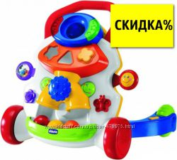 Развивающий учебно игровой центр Ходунки каталка Первые шаги Chicco  65261
