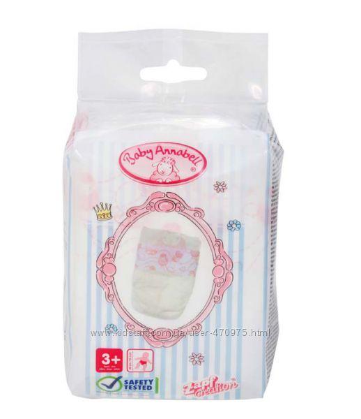 Памперсы для куклы 5 шт Baby Беби Борн и Annabell Zapf 792308