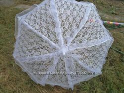 Ажурный зонт-трость для невест