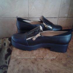 модные туфли -лоферы 39 -40р.