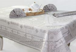 Белорусский оршанский лен - льняная скатерть Гламур c салфетками