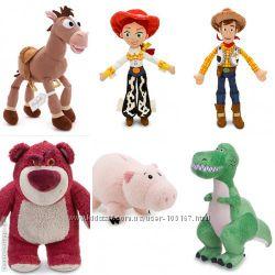 мягкие игрушки конь Булзай, ковбой Вуди, Джесси, Лотцо