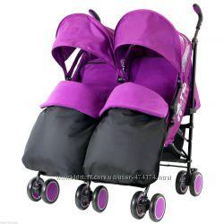 Zeta City Vooom - прогулочная коляска-трость для двойни