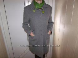 Шерстяное пальто демисизон-48р.