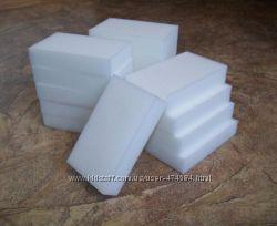 Наногубка Magic sponge в наличии Белые высокого качества, плотные