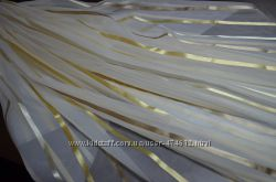 Тюль вуаль с атласными полосками полу-аркой или аркой, пошьем под Ваш разм