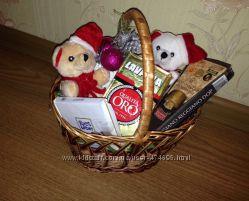Подарочная корзина с итальянскими продуктами