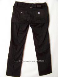 Черные плотные классические брюки с мини-юбкой Lady Elite Турция
