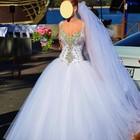 Свадебное платье корсет в камнях р. 42-46