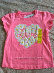 Яркие футболки для девочек примарк