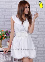 Красивенное белое платье, S