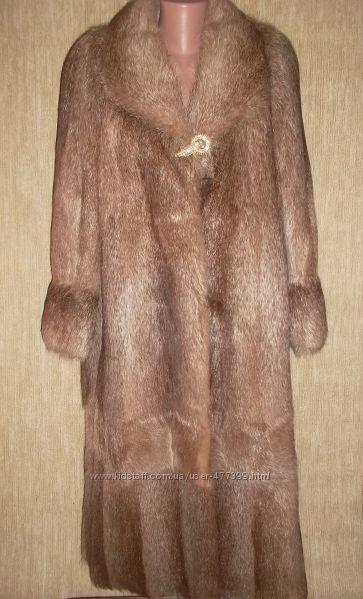 пальто из меха нутрии л-10 024 капельки парфюма