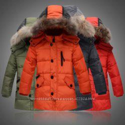 Зимние куртки на пуху для подростков