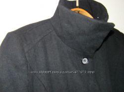 Пальто черное демисезонное