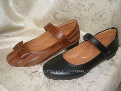 Кожаные туфельки для девочек, размер 32-36. Наличие