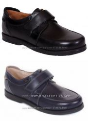 Шикарные кожаные туфли для мальчика Каприз  модель КШ-463 синие и черные
